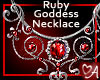 .a Ruby Goddess Necklace