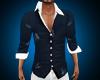 slim blue/white shirt
