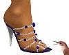 Jewelled heels silv.Blue