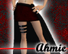 Double Skirt - Blk/Red