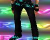 TH Aqua Pants w belts