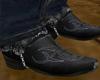 His Cowboy Boots Black