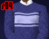[r84] Striped BluSweater