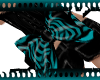 Z* Teal Tiger Bow