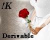 !K!Single Long Stem Rose