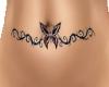 butterfly belly tattoo