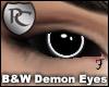 B&W Demon Eyes