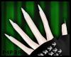 P| White Nail Gloves