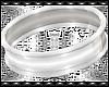 B! White PVC 5 Cuffs