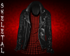Leather Jacket/Red Plaid