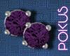 Grape Diamond Studs