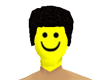 lego head yellow smiling