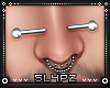 !!S Nose Piercing Silver