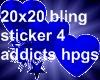 20x20 Blingstkr Blheart