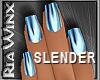 Light Blue Metal Nails