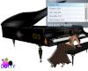 Black Grand piano radio