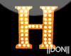 H Orange Neon Lamps