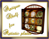 Antique shelf for plates