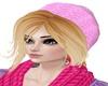 rubio con gorro rosa