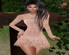 Peach glitter dress