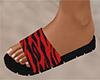 Red Stripe Sandals (F)