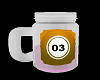 Glass cup Fruit Jar