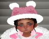 Girls Pink Snowflake Hat