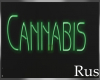 Rus Cannabis Neon sign