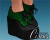 C` Green Heel Boots
