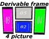 Derivable 4 picture fram