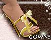 Heels - golden bow