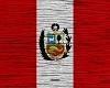 Peru Flag On Wood