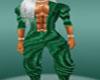 green baggy pants male