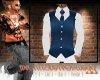 {BS} Blu/Wht Shirt/Vest