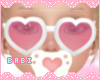 Heart Glasses Pink