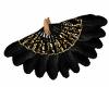 Dance Fan Black Gold