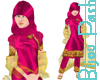 Hijab in Magenta & Gold