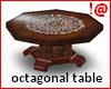 !@ Antiq octagonal table
