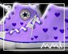 purple hearts converse