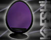 Egg Oval Purple & Black