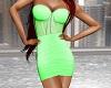 Kelly Dress - Lime Green