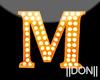M Orange Neon Lamps