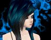 Black/Blue Rocker Hair