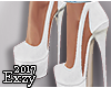 E! White High Heel.