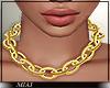 !M! Chain Necklace gol.