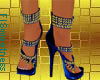 FLS Sandals - Blue Gold