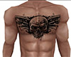 Skull Tattoo FRONT ONLY