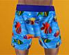 Fish Pajama Shorts 2 (M)