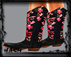 COWGIRL BOOTS PINK/BLACK