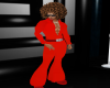 B.F 70's Red Jumpsuit
